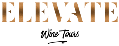 Elevate Wine Tours Logo - Copper Title with Black sub heading