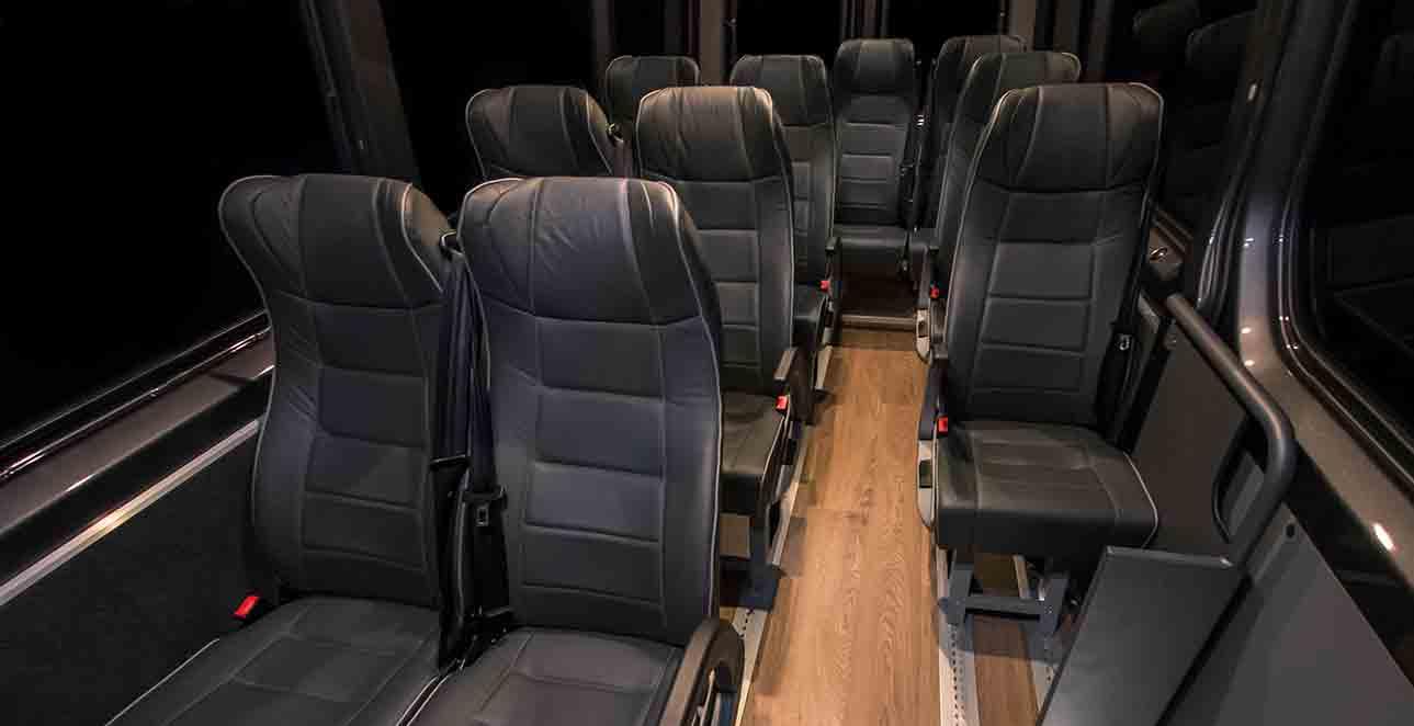 Mercedes-Benz 11 seat interior view