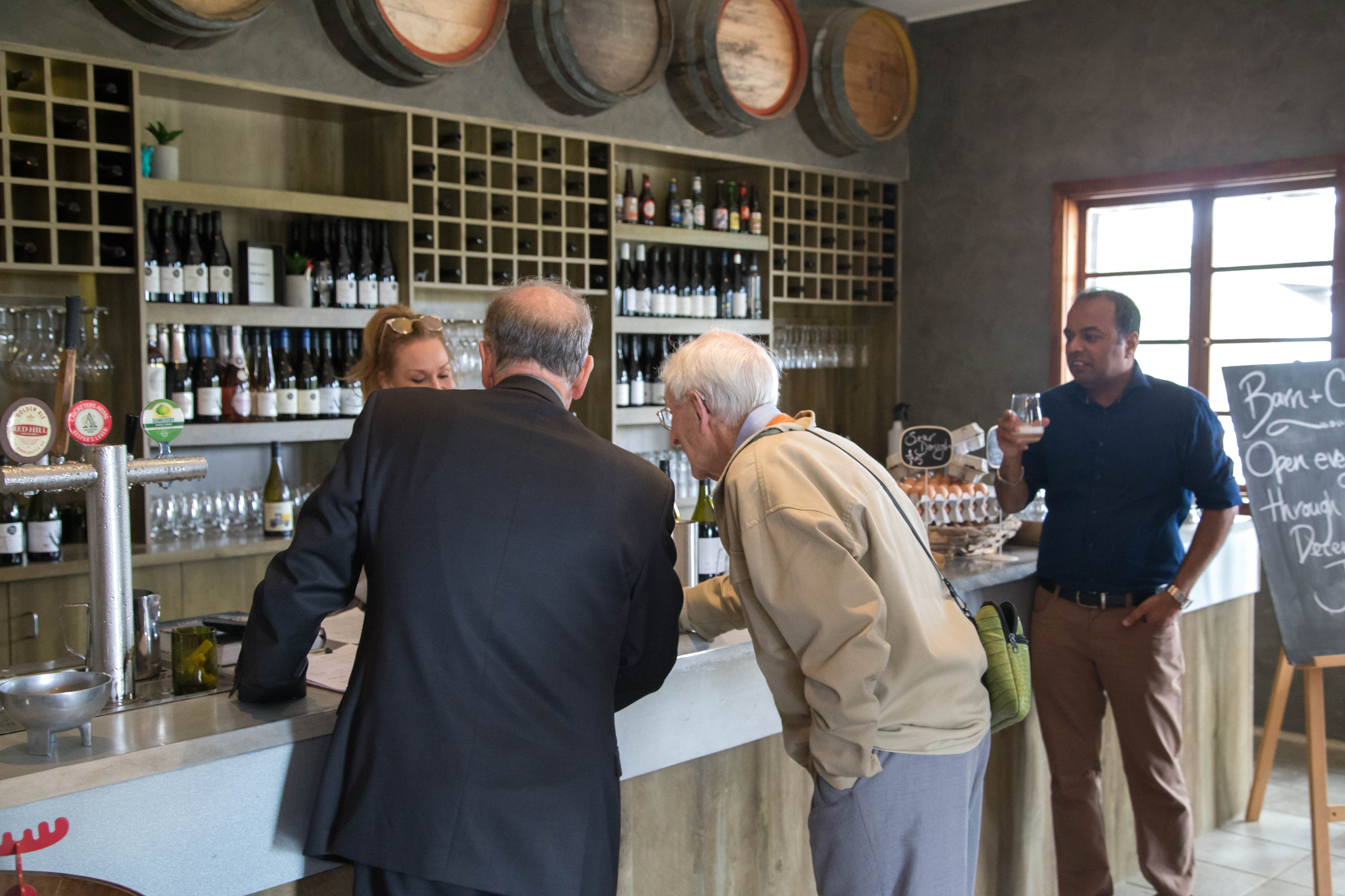 Wine tasting at Barn & Co