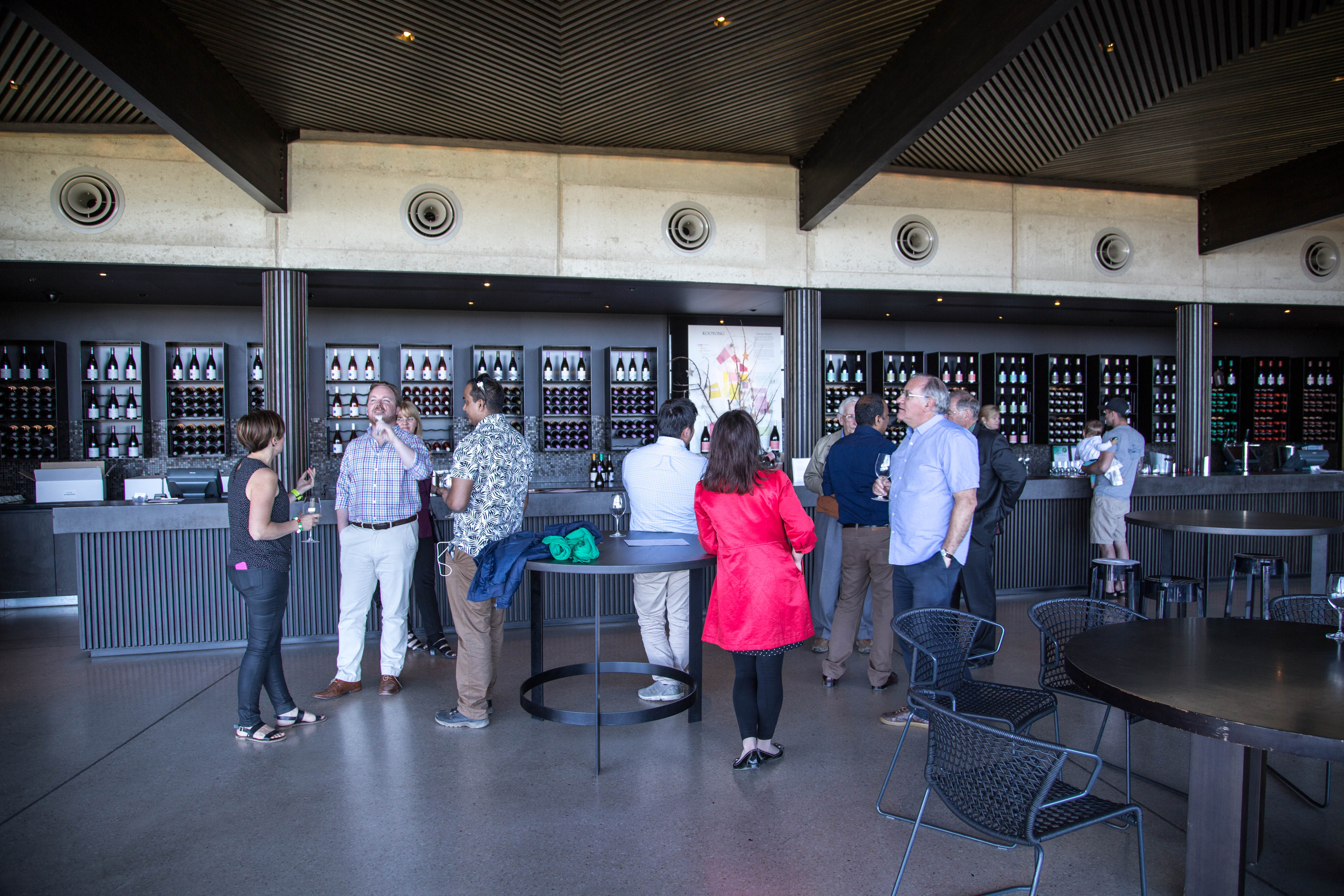 Looking in on a group tasting at Port Phillip Estate