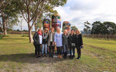 Work colleagues touring the Mornington Peninsula