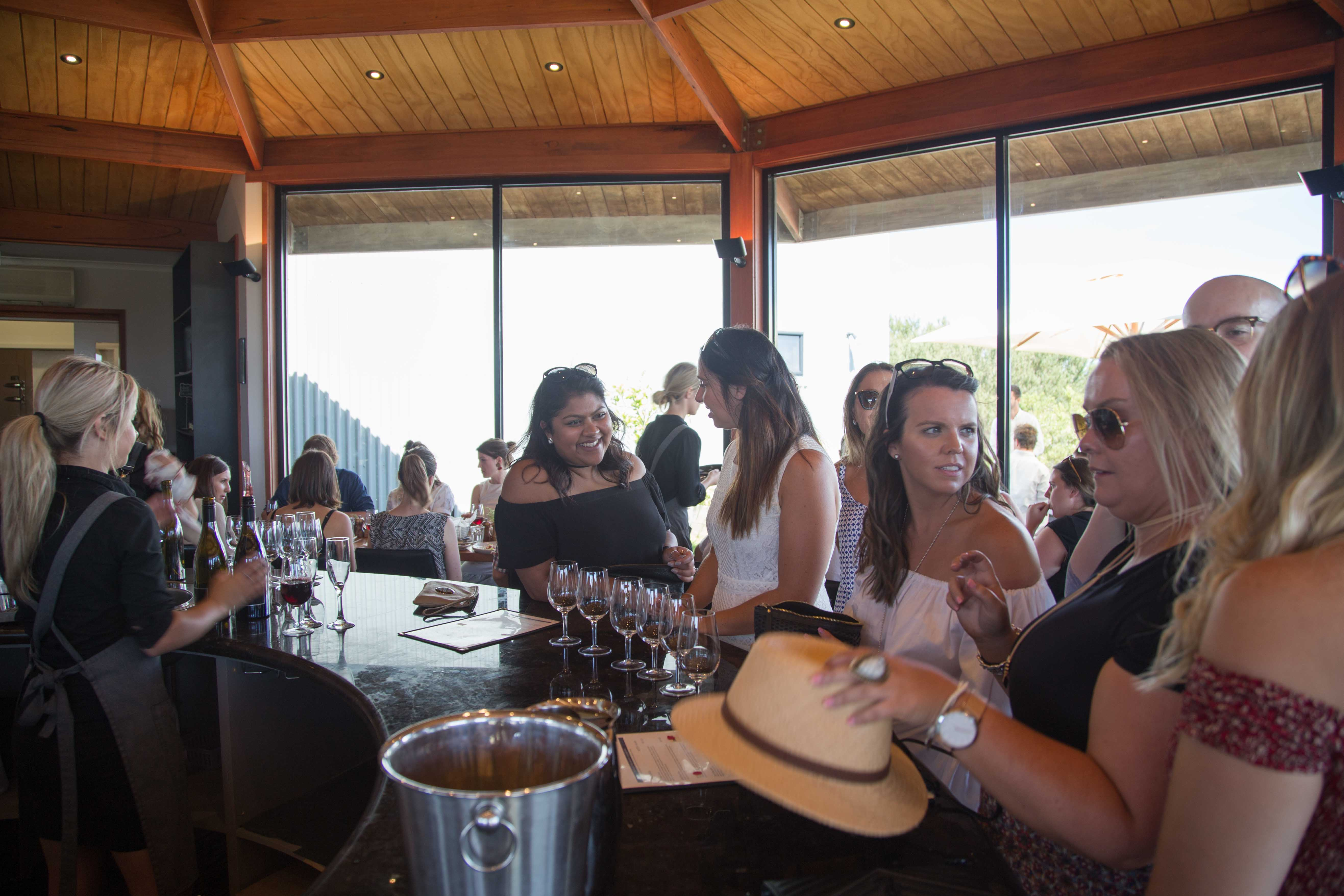 Wine tasting at The Cups Estate