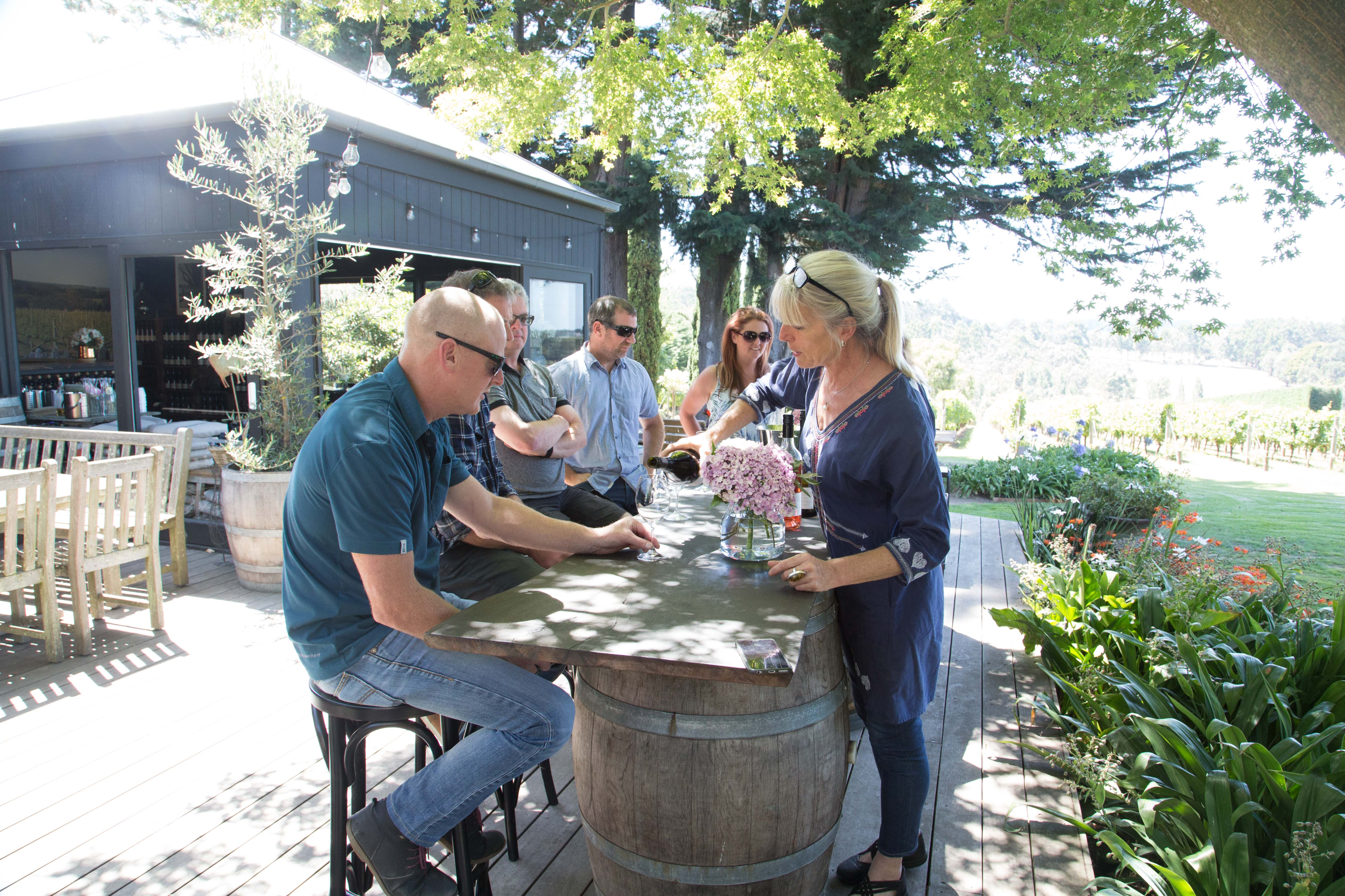 wine tasting at Panton Vineyard, Shoreham, Mornington Peninsula