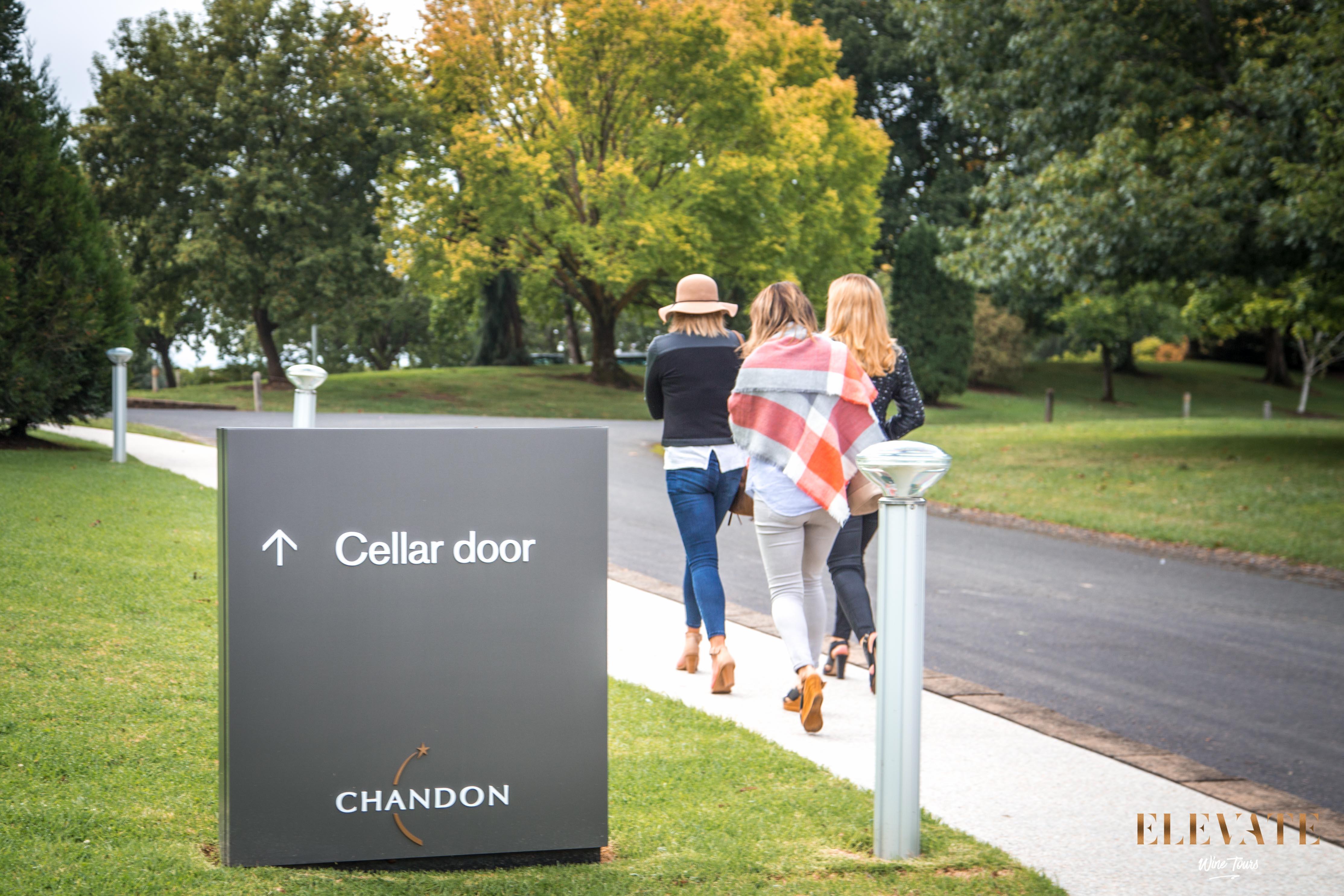 Walking towards Chandon cellar door