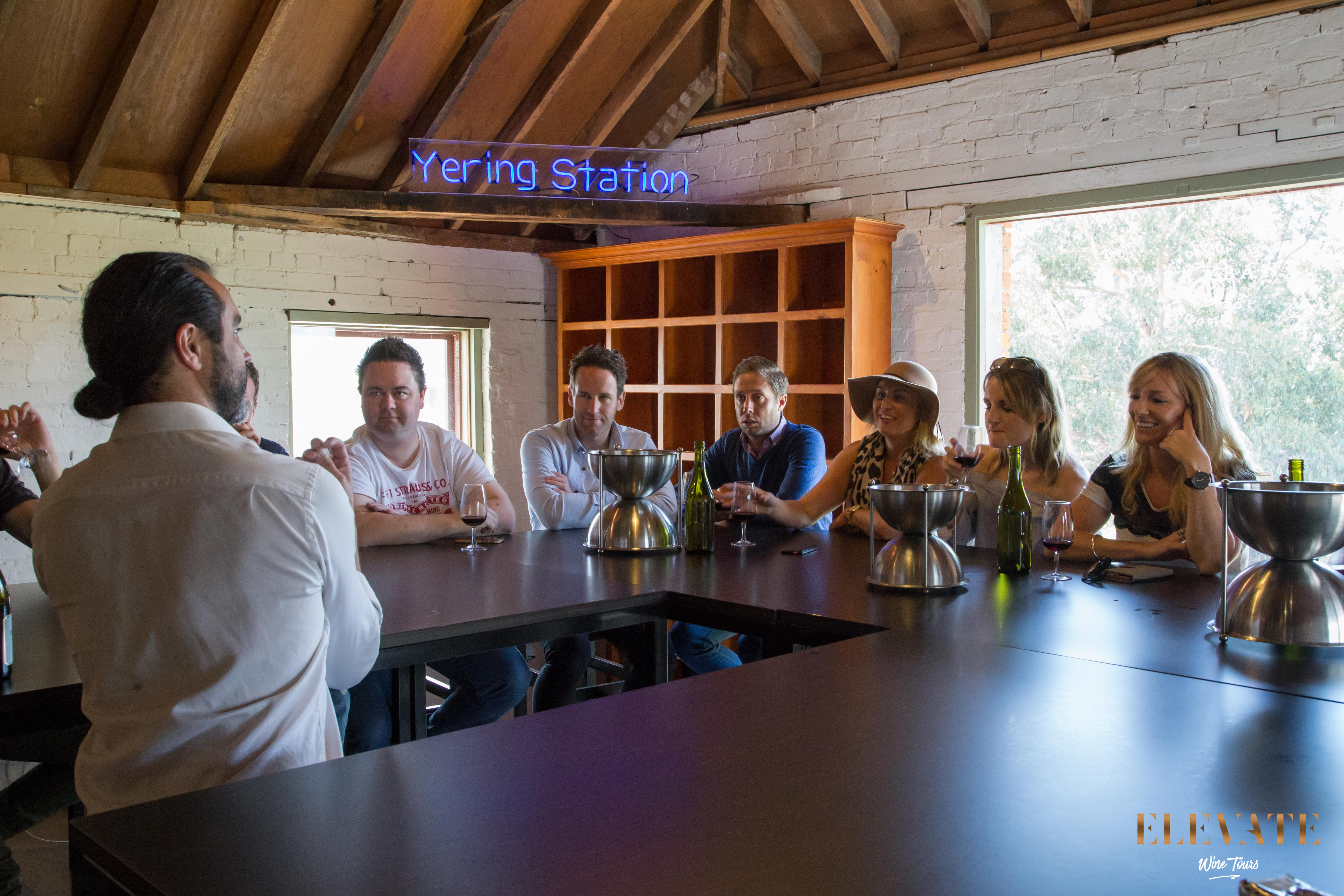 Private wine tasting in the Yarra Valley at Yering Station Winery