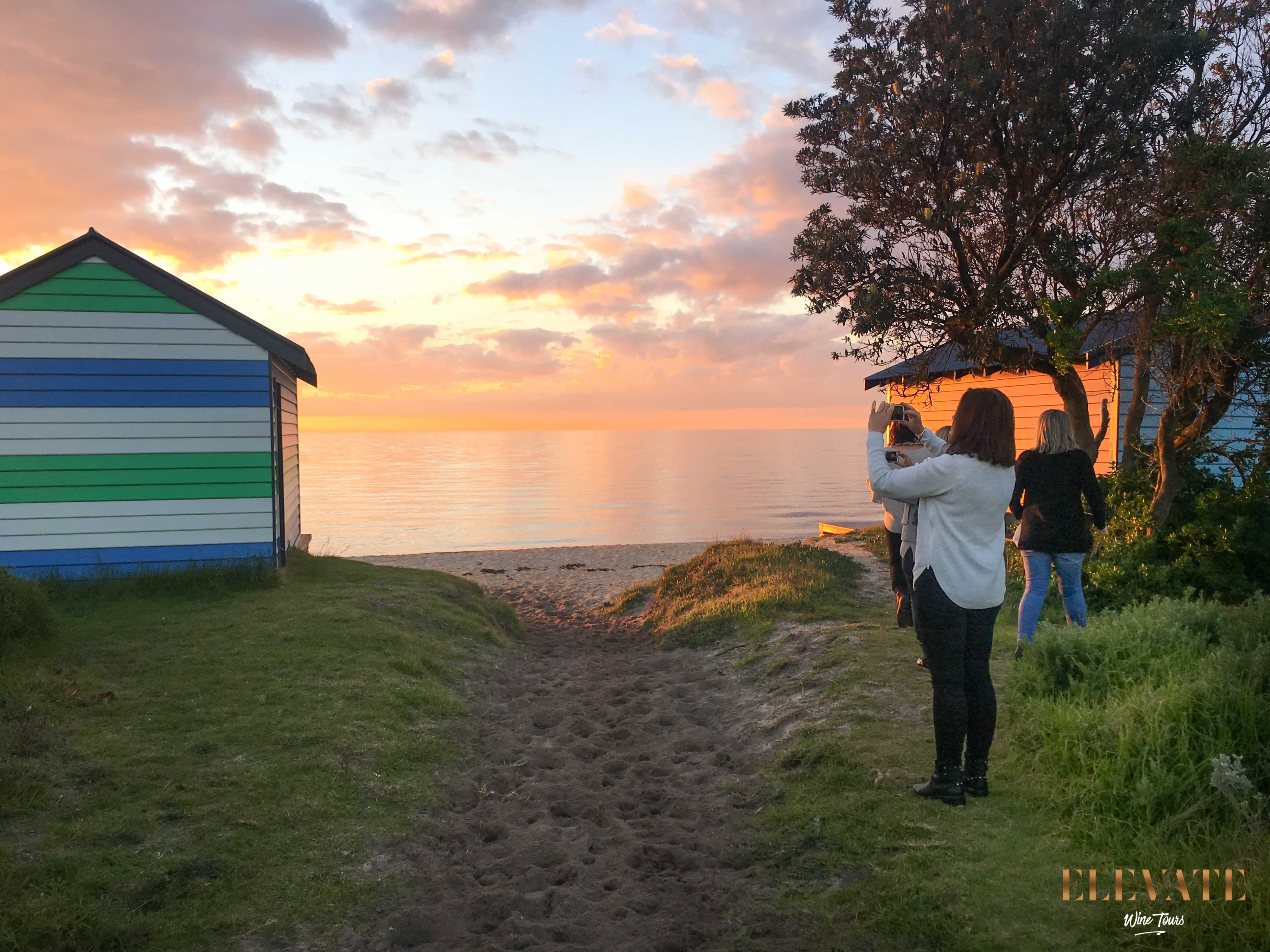 DROMANA-FORESHORE-SUNSET-WINERY-TOUR-BEACH-HUT